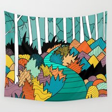 Into the forest Wall Tapestry