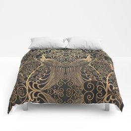 ART DECO PEACOCKS Comforters