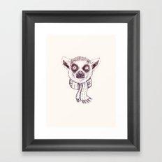 Lemur and scarf  Framed Art Print