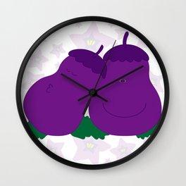 Eggplants  Wall Clock