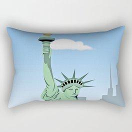 """""""Statue of Liberty """" NYC Rectangular Pillow"""