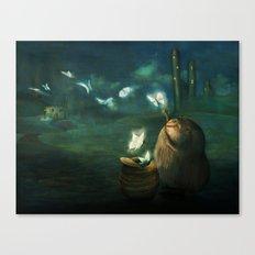 The Moth Basket Canvas Print