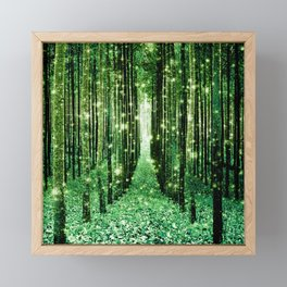 Magical Forest Green Elegance Framed Mini Art Print