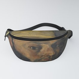Gustave Boyer in a Straw Hat Fanny Pack