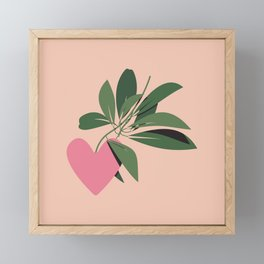 Give Yourself Time - Pink Framed Mini Art Print