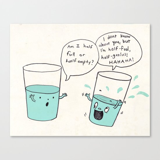 another optimistic glass Canvas Print
