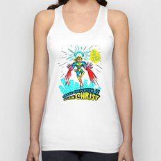 we need a hero to fight the evil Santa Claus Unisex Tank Top