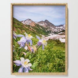 High Country Summer Wildflowers Crested Butte Colorado Mountain Landscape Serving Tray