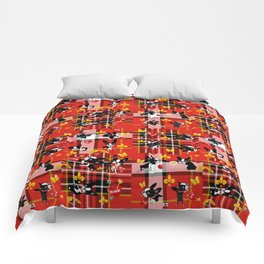 Mirabelle the boston terrier tartan Comforters