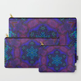 Bioluminescent Tribal Lotus Carry-All Pouch