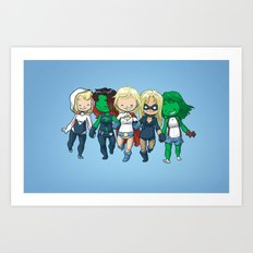 Super BFFs 2 Art Print