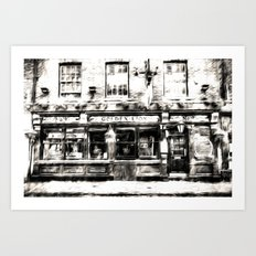 The Golden Lion York Art Art Print