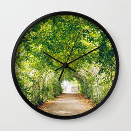 in green summer light Wall Clock