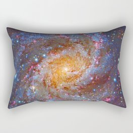 Spiral Galaxy in Outer Space Rectangular Pillow
