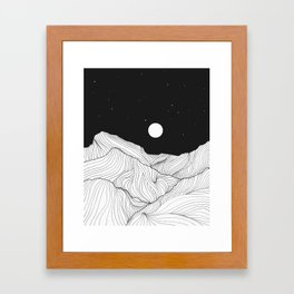 Lines in the mountains II Framed Art Print