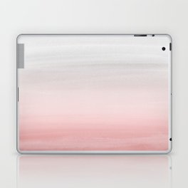 Touching Blush Gray Watercolor Abstract #1 #painting #decor #art #society6 Laptop & iPad Skin