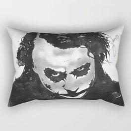 The joker in B&W Rectangular Pillow