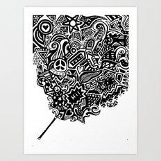 the doodle wand Art Print