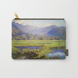 Manoa, Hawaiian landscape painting by Anna Woodward Carry-All Pouch