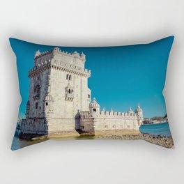 Belém Tower, Lisbon, jour nuit Rectangular Pillow