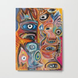 Street Art Brut Vector Graffiti Eyes Metal Print