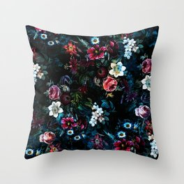 NIGHT GARDEN XI Throw Pillow
