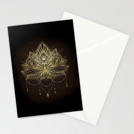 Ornamental Lotus flower Stationery Cards
