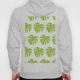 Monstera silhouettes seamless pattern.Tropical leaves. Hoody
