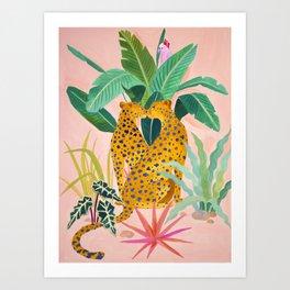 Cheetah Crush Art Print