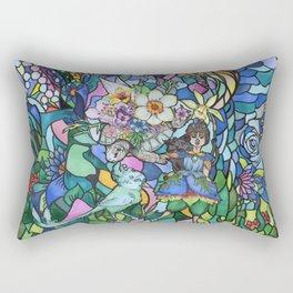 Springtime flying Rosa Rectangular Pillow