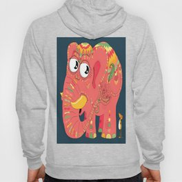colorful Indian elephant and mouse Hoody