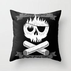 Pirate Camp Throw Pillow