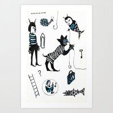 Crooner Fantasy Art Print