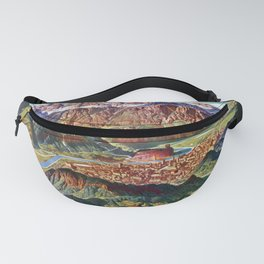 Vintage Trient and the Brenta Dolomites Italy Relief Map Fanny Pack
