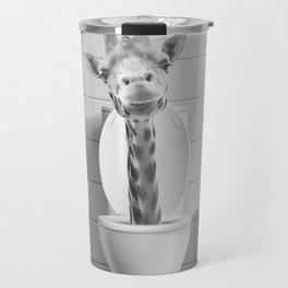 Giraffe in the Toilet Travel Mug
