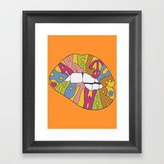 make love... Framed Art Print