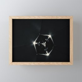 Cube & flower Framed Mini Art Print