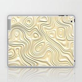 Off-White Cream Ivory 3D Liquid Swirls Pattern Laptop & iPad Skin