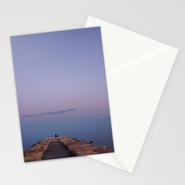 Beautiful sunset Caorle Italy Stationery Cards