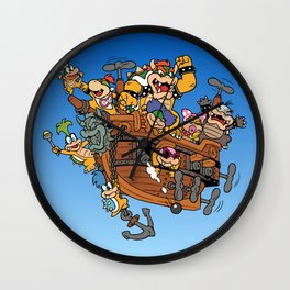Father and His Children Wall Clock