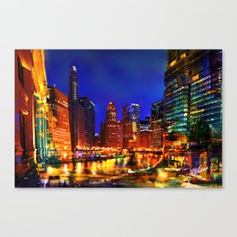 Chicago at Dusk Canvas Print