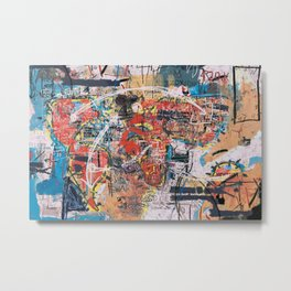 World Mapsqiuat Metal Print
