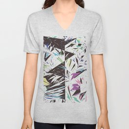 Abstract bold artistic triangles geometrical shapes Unisex V-Neck