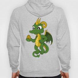 Cute little green dragon cartoon with golden cartoon Hoody