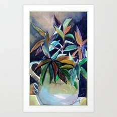 Blue Pitcher Art Print