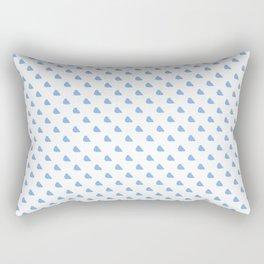 Little Birds of Blue Rectangular Pillow