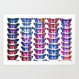 Multicolour Rainbow Butterflies III Art Print