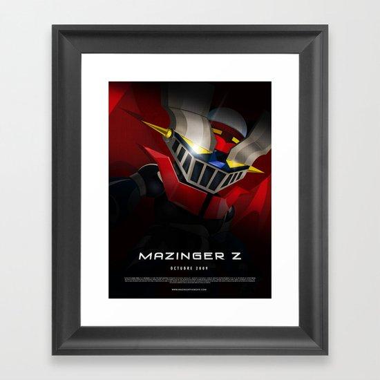 mazinger fan art Framed Art Print