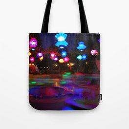 Teacups Blur at Night Tote Bag