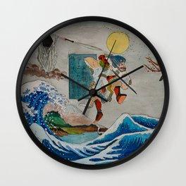 Tadatsune's Journey to Mount Fuji Wall Clock